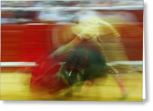 Tauromaquia Bull-fights In Spain Greeting Card by Guido Montanes Castillo