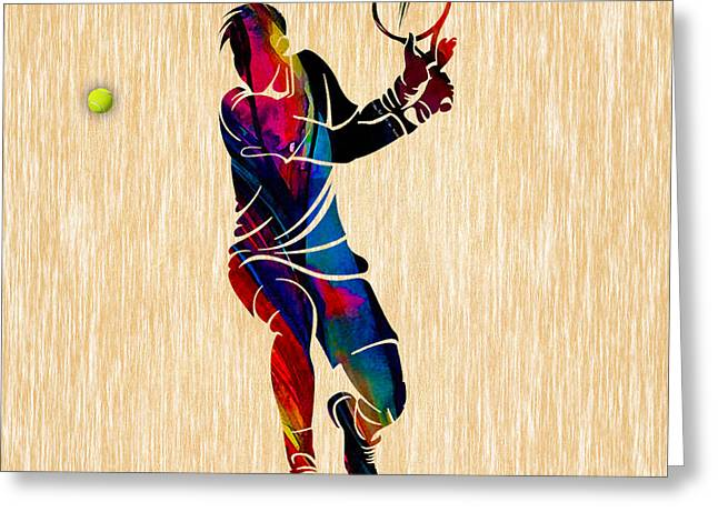 Tennis Match Greeting Card by Marvin Blaine