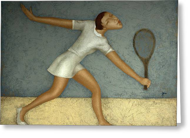 Tennis Greeting Card by Nicolay  Reznichenko