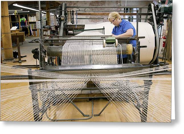 Textile Mill Warping Creel Greeting Card by Jim West
