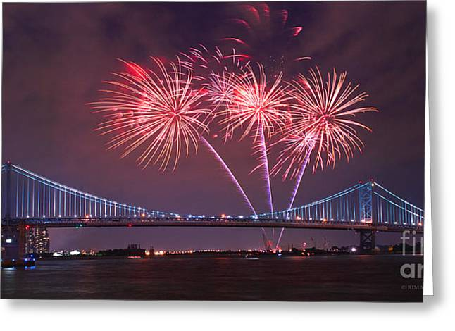 4 Th Of July Firework Greeting Card