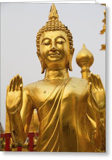 Thailand, Chiang Mai Province, Wat Phra Greeting Card by Emily Wilson