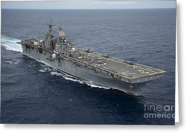 The Amphibious Assault Ship Uss Essex Greeting Card by Stocktrek Images