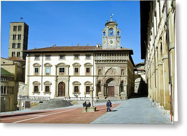 The Building Of Fraternita Dei Laici Greeting Card by Nico Tondini
