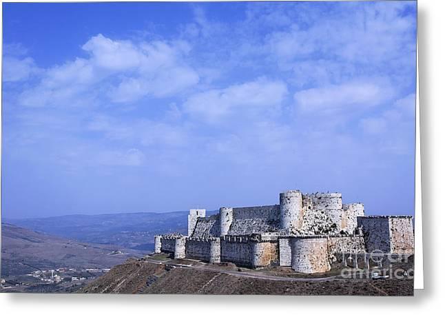 The Crusader Castle Krak Des Chevaliers Syria Greeting Card