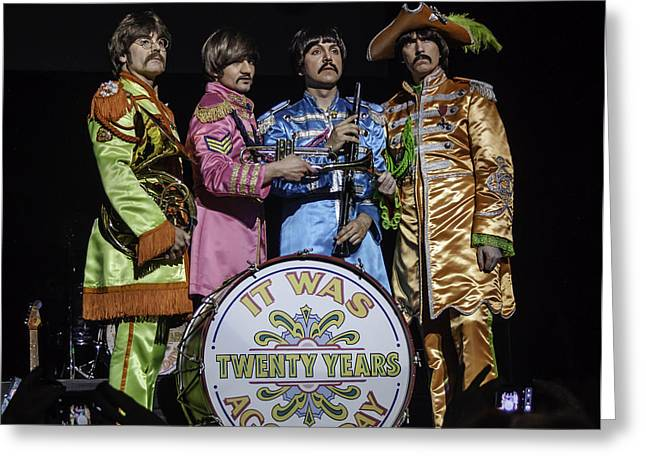 The Fab Four Greeting Card