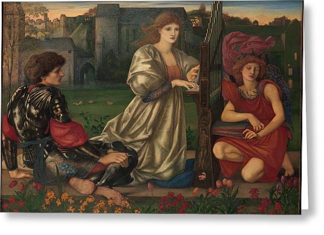 The Love Song Greeting Card by Sir Edward Burne-Jones