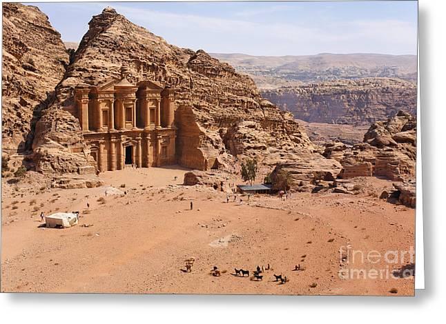 The Monastery At Petra In Jordan Greeting Card