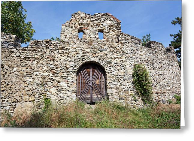The Romantic Church Of Cisnadioara Greeting Card by Martin Zwick