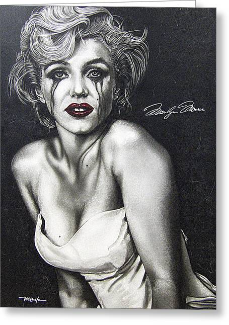 Greeting Card featuring the painting The True Marilyn by Dan Menta
