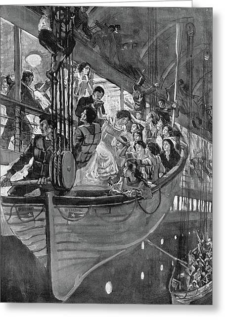 Titanic Lifeboats, 1912 Greeting Card by Granger
