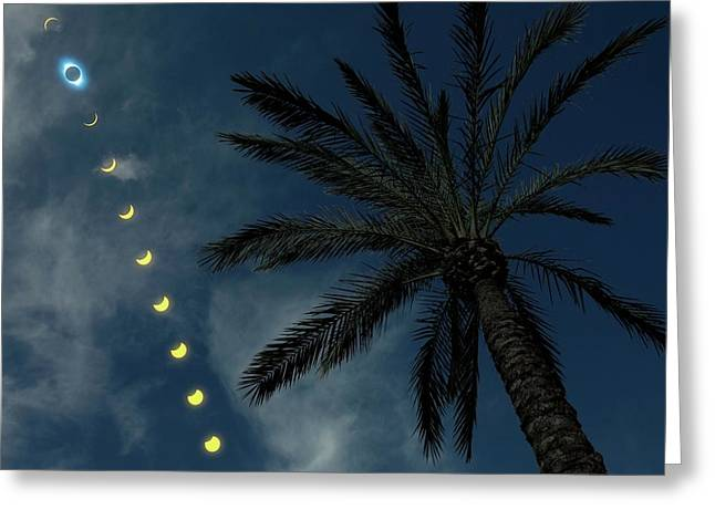 Total Solar Eclipse Greeting Card by Detlev Van Ravenswaay