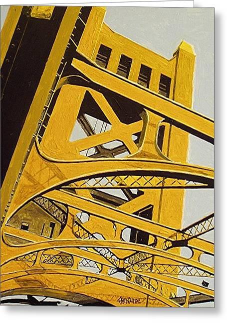 Tower Bridge Greeting Card by Paul Guyer