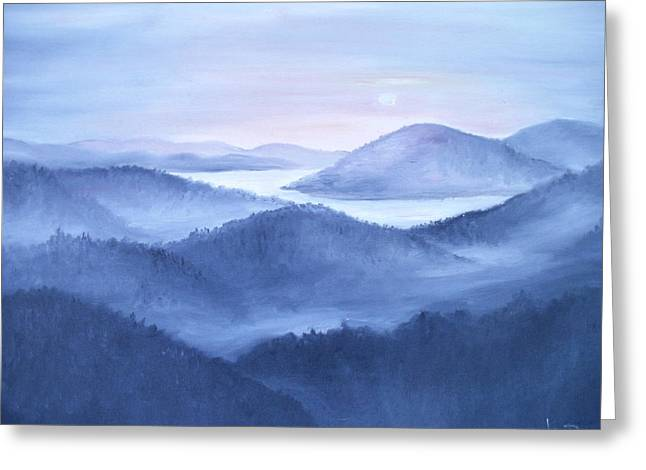 Tranquility Greeting Card by Glenda Barrett