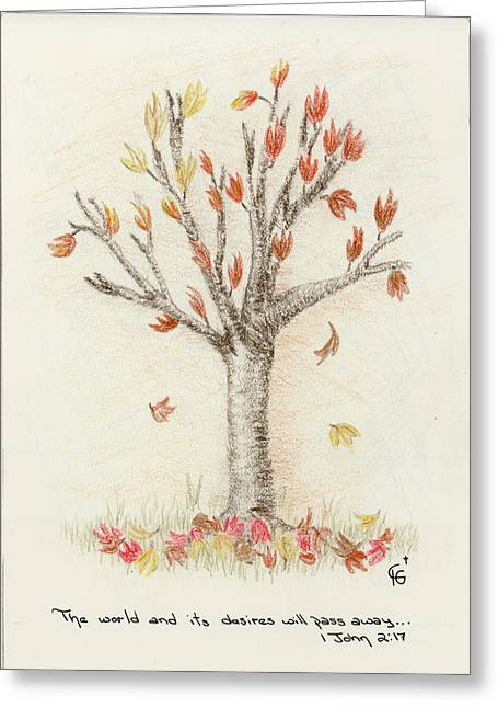 4 Trees-1st Tree Fall Greeting Card