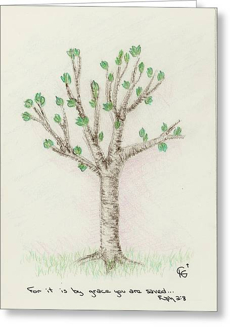 4 Trees-3rd Tree Spring Greeting Card