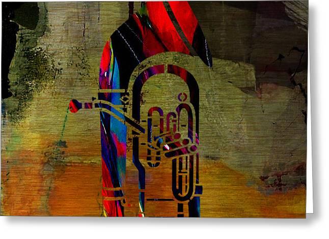 Tuba Greeting Card by Marvin Blaine