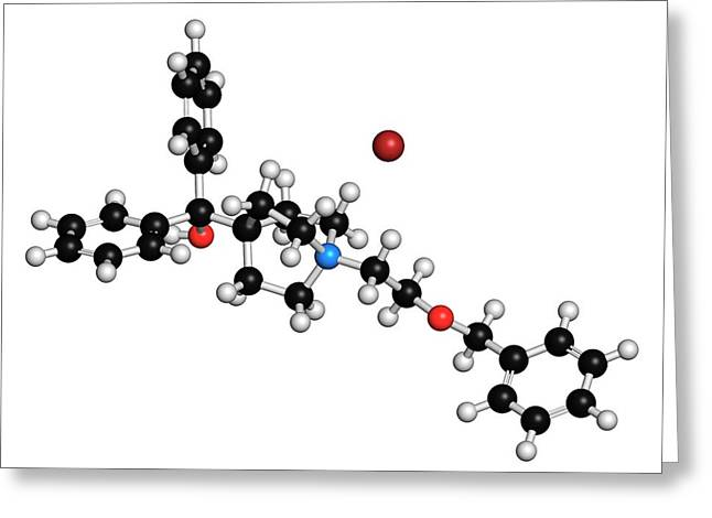Umeclidinium Bromide Copd Drug Molecule Greeting Card by Molekuul