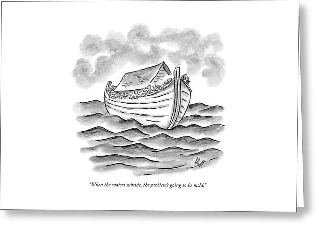 When The Waters Subside Greeting Card