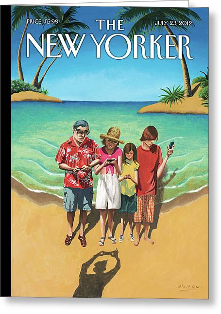 New Yorker July 23rd, 2012 Greeting Card by Mark Ulriksen
