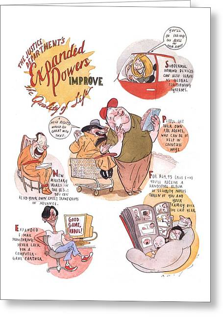New Yorker January 7th, 2002 Greeting Card by Steve Brodner