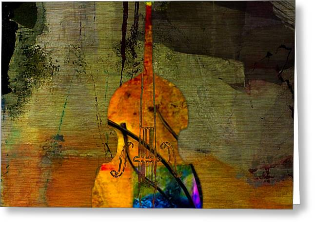 Upright Bass Greeting Card