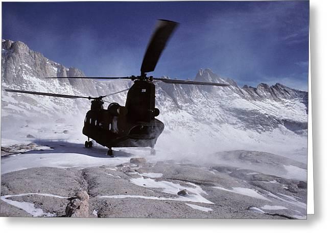 Usa, California, Chinook Search Greeting Card