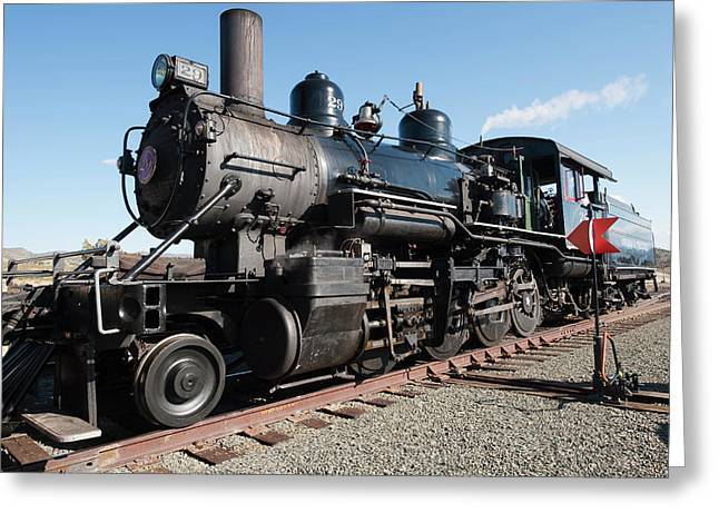 Usa, Nevada Old Steam Locomotive Greeting Card