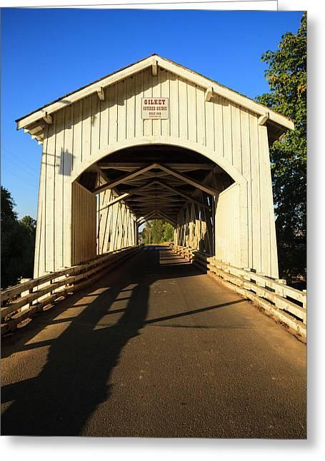 Usa, Oregon, Scio, The Gilkey Bridge Greeting Card