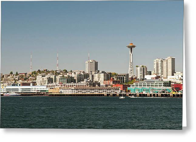 Usa, Wa, Seattle Greeting Card by Trish Drury
