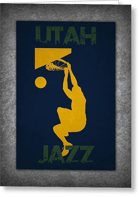 Utah Jazz Greeting Card