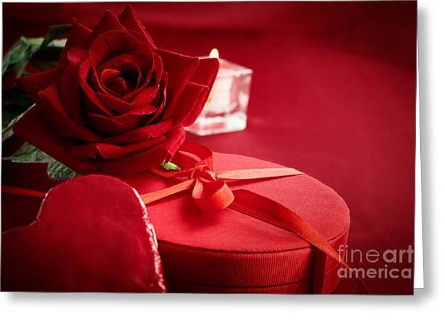 Valentine's Day Present Greeting Card by Mythja  Photography