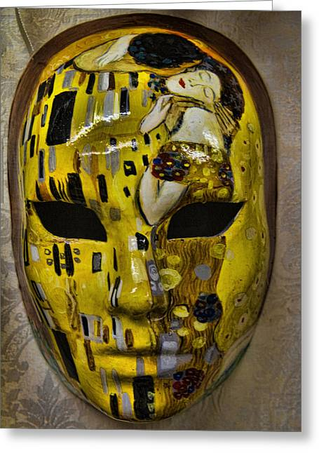 Venetian Carnaval Mask Greeting Card