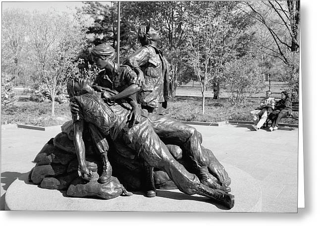 Vietnam Veteran's Memorial Greeting Card by Granger