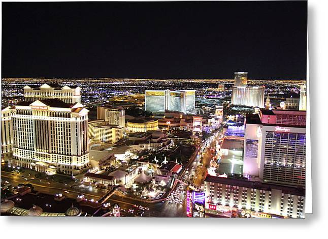 View From Eiffel Tower In Las Vegas - 01132 Greeting Card by DC Photographer