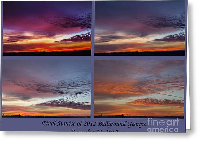 4 Views Of Sunrise 2 Greeting Card