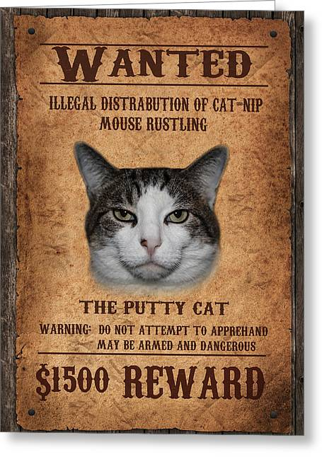 Wanted Greeting Card by Doug Long