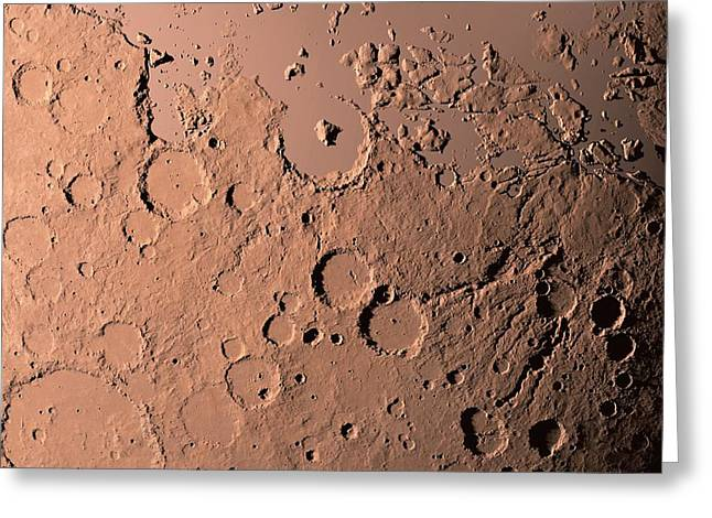 Water On Mars Greeting Card