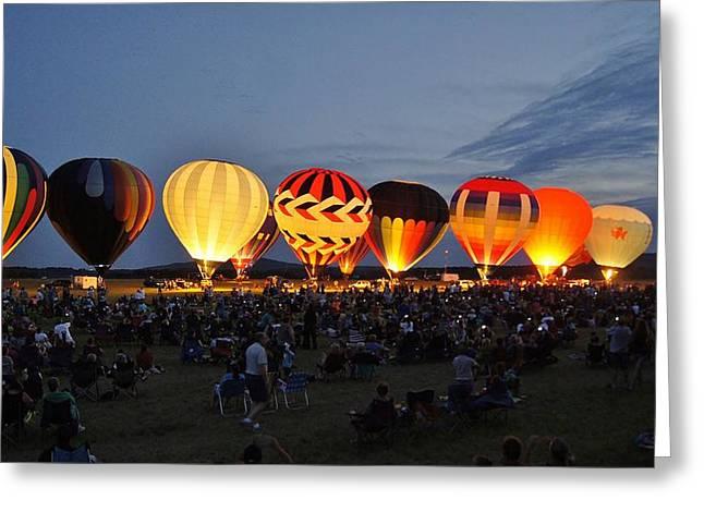 Wausau Hot Air Balloon Festival Greeting Card by Carol Toepke