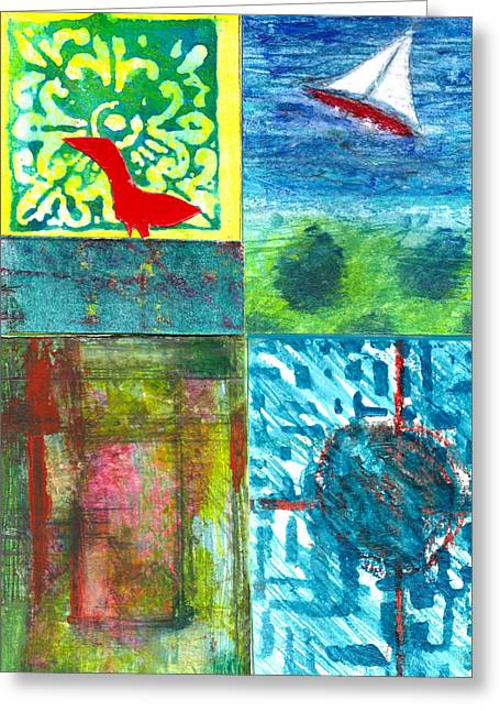 4 Way 3 Greeting Card by James Raynor