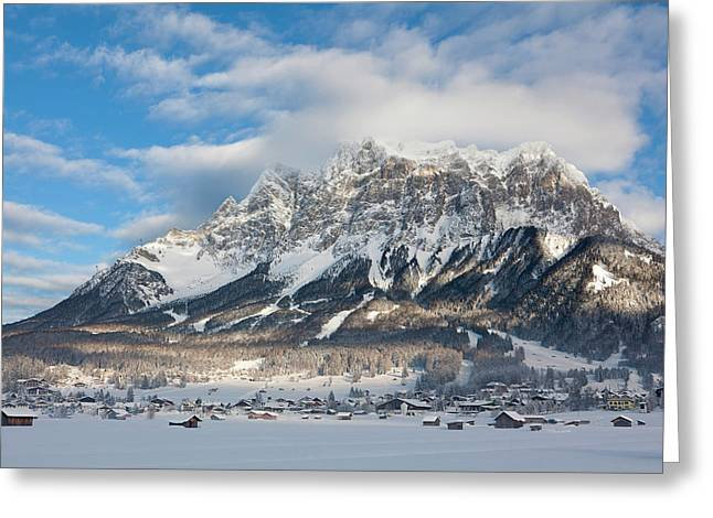 Wetterstein Mountain Chain With Mt Greeting Card