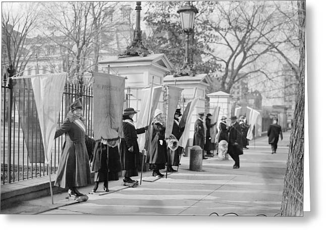 White House Suffragettes Greeting Card