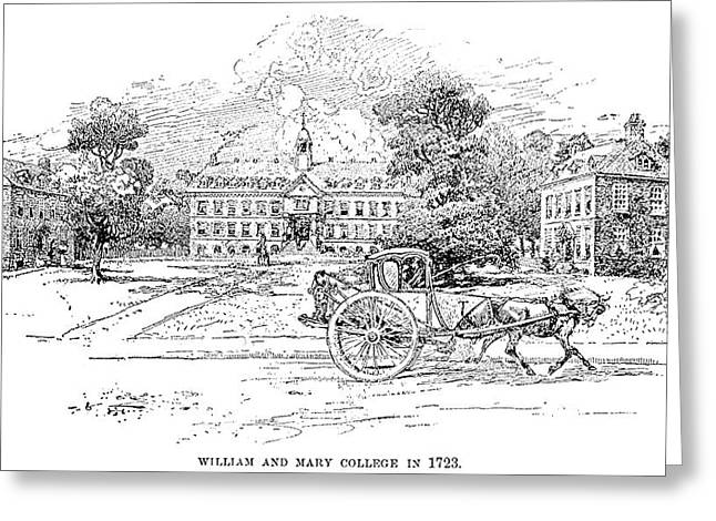 William And Mary College Greeting Card by Granger