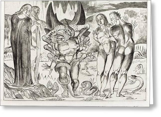 William Blake British, 1757 - 1827, The Circle Greeting Card by Quint Lox