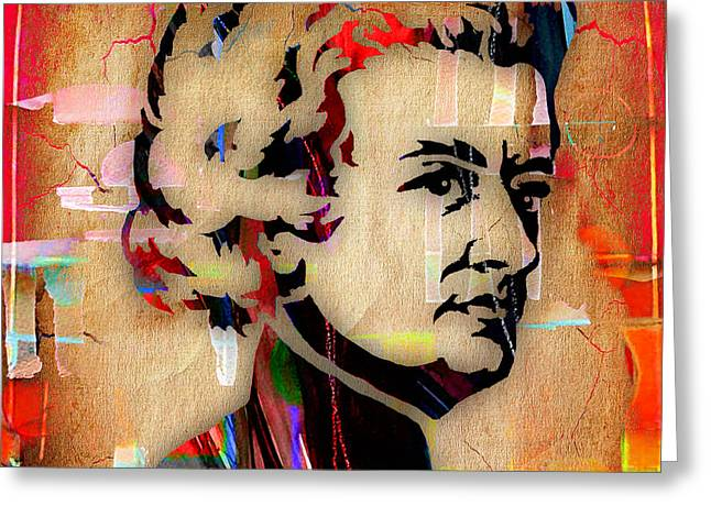 Wolfgang Amadeus Mozart Collection Greeting Card by Marvin Blaine