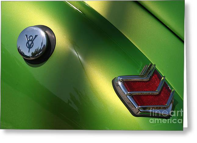 40 Ford - Tank N Tail Light-8527 Greeting Card by Gary Gingrich Galleries