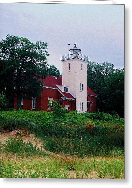Greeting Card featuring the photograph 40 Mile Light by Daniel Thompson