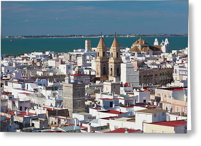 Spain, Andalucia Region, Cadiz Greeting Card by Walter Bibikow