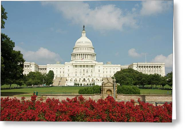 Washington Dc, Usa Greeting Card by Lee Foster