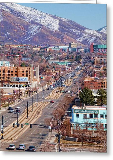 400 S Salt Lake City Greeting Card by Ely Arsha